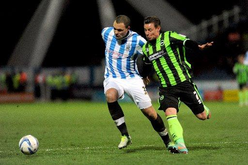 The Argus: Will Hoskins (right), scored from the spot for Albion