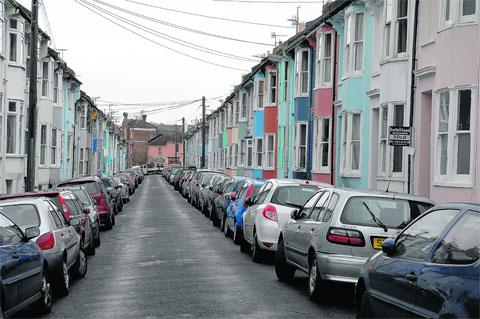 Southampton Street in Hanover, Brighton may be the first street with insulation on the outside
