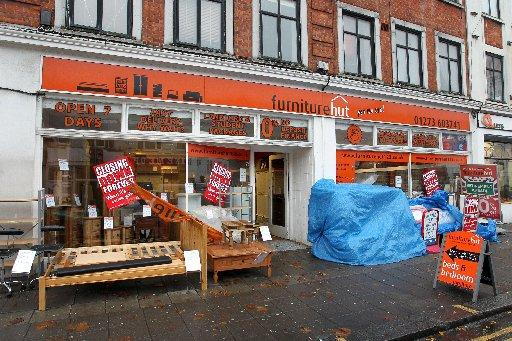 The Furniture Hut shop on Lewes Road is closing down
