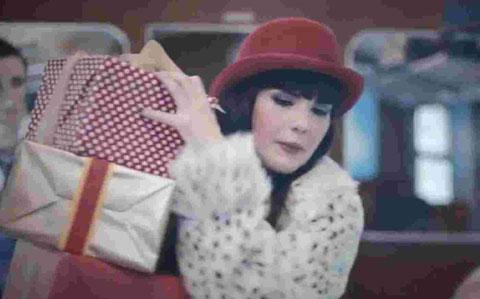 Brighton sstudent Molly Bond in the Christmas TKMaxx advertisement