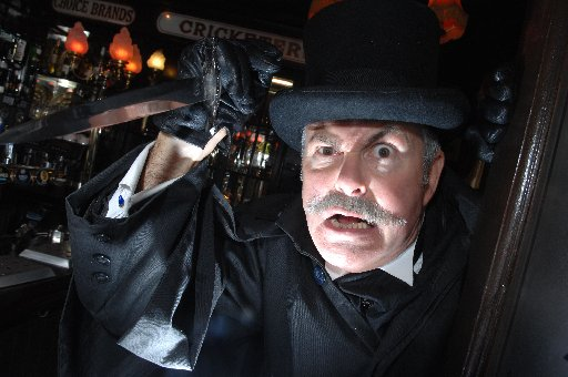 Brighton ghost walker Rob Marks at The Cricketers in Brighton where Jack The Ripper supposedly spent the night
