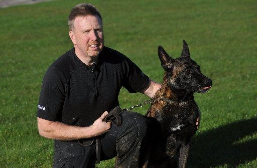 Police dog handler PC Steve Williams and Blyss