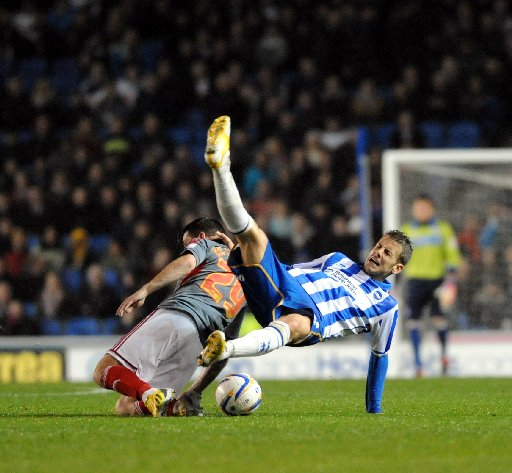 Andrea Orlandi is upended