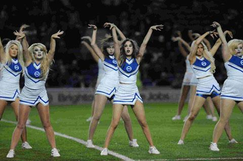 Popular Brighton and Hove Albion cheerleaders Gully's Girls