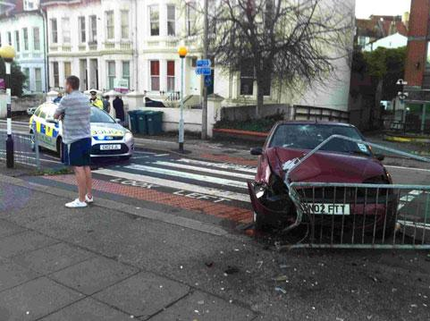The abandoned car in Preston Road, Brighton