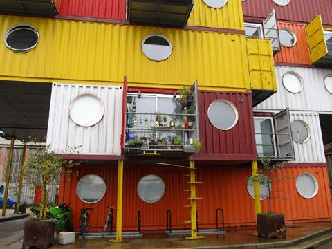 Container city in London. Picture by Jo Marshall, licenced by Creative Commons