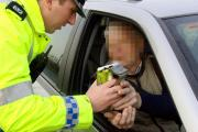 A driver provides a roadside breath test