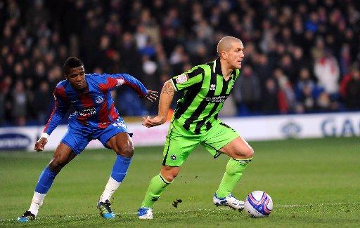 Adam El-Abd with Wilfried Zaha