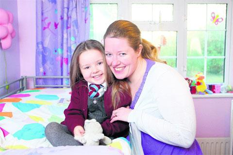 Lily Aird with her mum Claire – Picture by Ciaran McCrickard