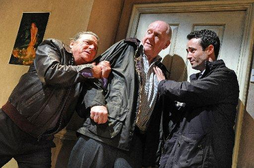 Richard O'Callaghan (Ken), Duncan Preston (Joe), Joe McFadden (Andy) in Haunting Julia