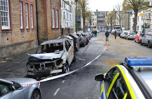 Line of cars, wheelie bins and bikes gutted in Hove fire