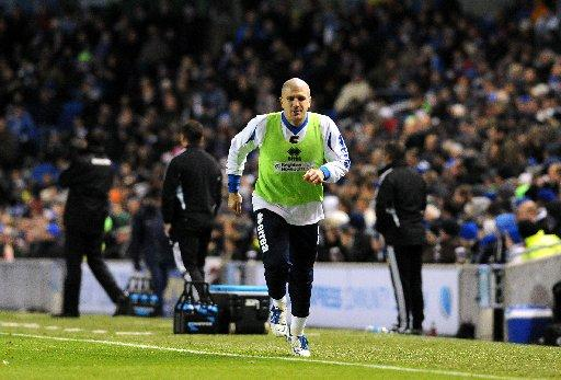 Adam El-Abd, warming up at The Amex