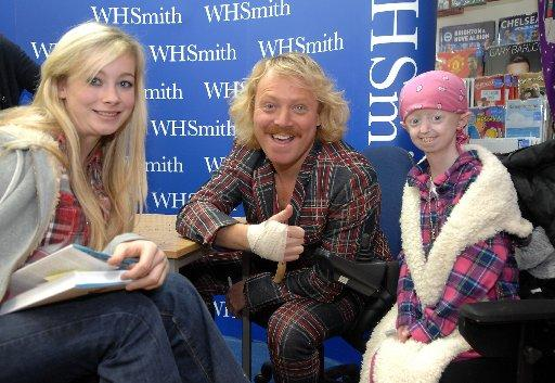 Comedian Leigh Francis as Keith Lemon with fans pictured with Beth Standen (left) and Haley Okines