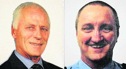The Argus: Brian Wembridge and Geoff Wicker