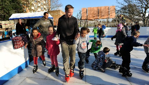 Pupils get their skates on for time off lessons