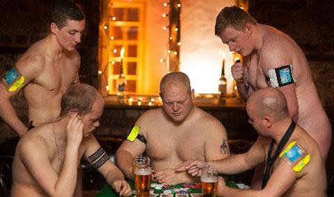 Bouncers pictured in the charity calendar