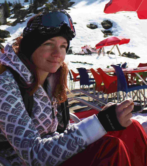 Emily Watts is in a serious condition after crashing into a snowdrift in the French Alps
