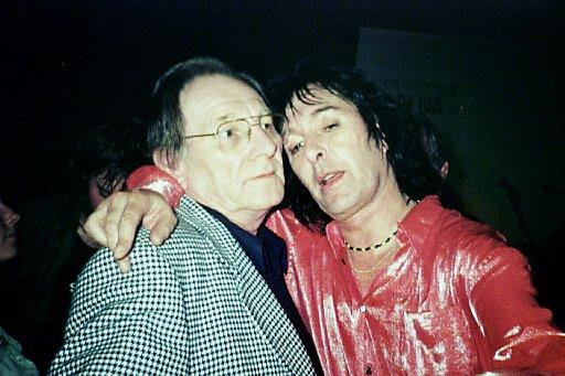 Bob Ward pictured with Ronnie Wood's brother Art