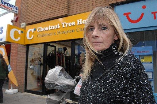 Sue Pritchard-Smith outside the Chestnut Tree House charity shop in Montague Street, Worthing