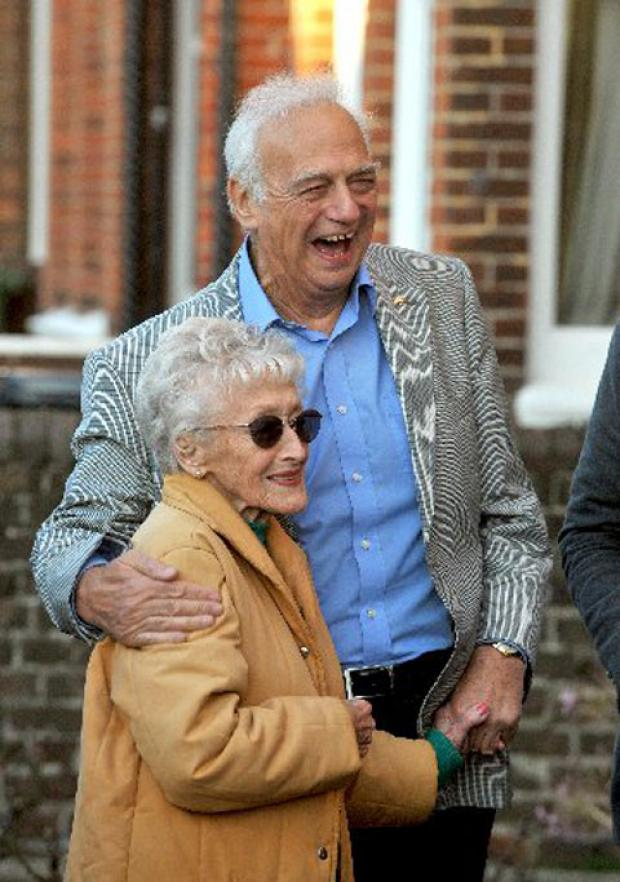 Gladys Morgan's daughter Joan Laurie with Roy Hudd