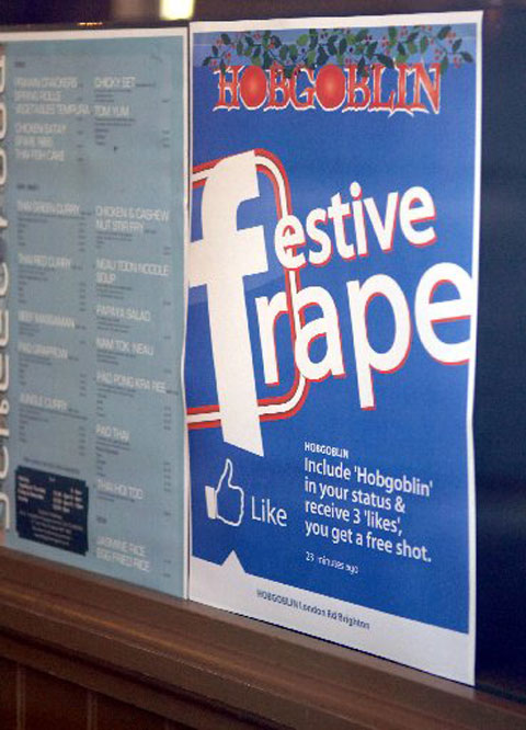 The Festive Frape poster that caused the row