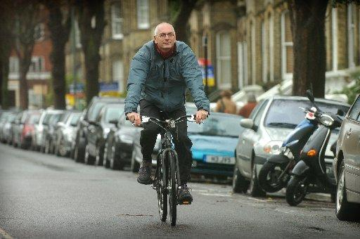 Brighton and Hove Council transport committee chairman Ian Davey is pleased at cycling growth in the city