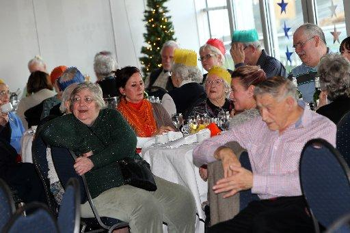A Christmas meal for the elderly held at Sussex County Cricket Club