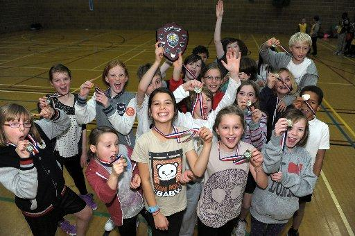 The winning team from St Lukes Primary School in Brighton – Pictures by Russ Kirby