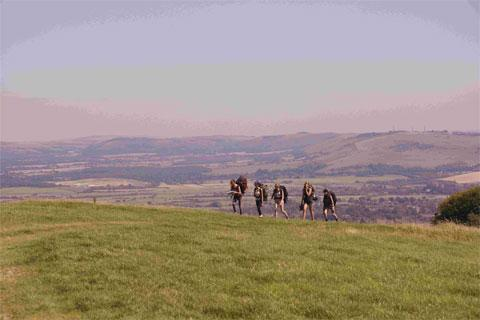 Vandean School pupils on their Duke of Edinburgh Awards expedition – Picture by Bob Rhodes