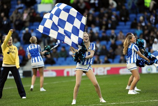 Gully's Girls performed at the Amex for the last time on Saturday