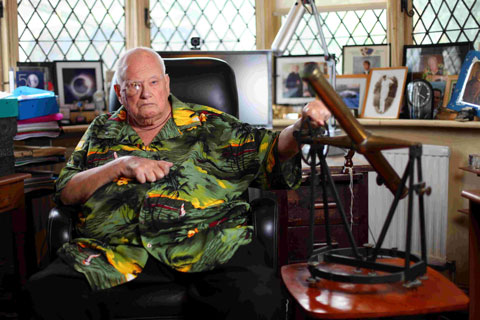 Sir Patrick Moore at his Sussex home – Picture by Ciaran McCrickard/Connors