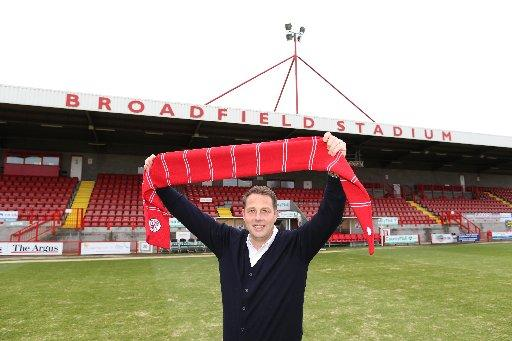 Richard Low at Broadfield Stadium Picture: James Boardm