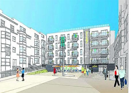 Conran Partners artist's impression of proposed hotel