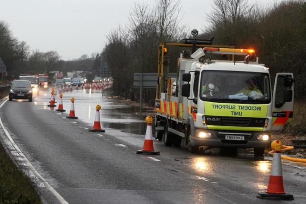 Flood misery continues despite drainage work on A27