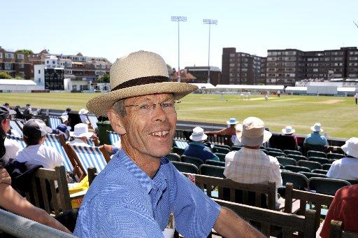 Christopher Martin-Jenkins pictured at Hove in 2009