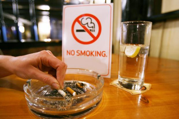 The Argus: Smokers have had to stub out or pay up under new anti-smoking legislation 	(c)