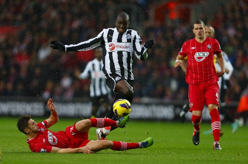Demba Ba. The Newcastle striker is Chelsea bound and will not be facing Albion at The Amex.