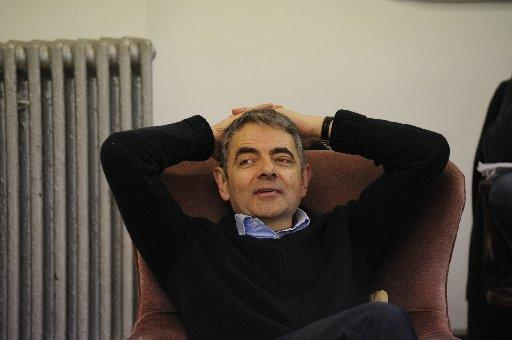 Rowan Atkinson in rehearsal for Quartermaine's Terms. Photo by Nobby Clark