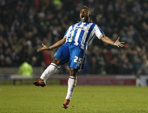 The Argus: Kazenga LuaLua enjoys his recent goal against Millwall