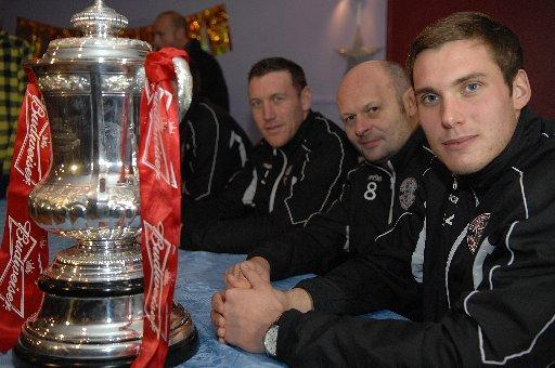 Hastings with the FA Cup
