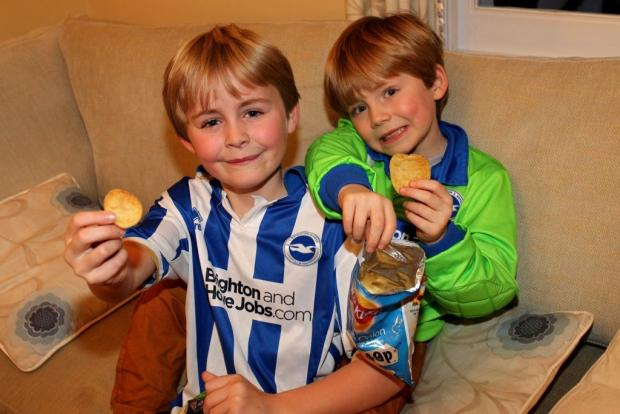 Freddie and Zac had a great idea for Brighton and Hove Albion crisps