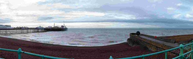 An artist's impression of how the Rampion wind farm could look