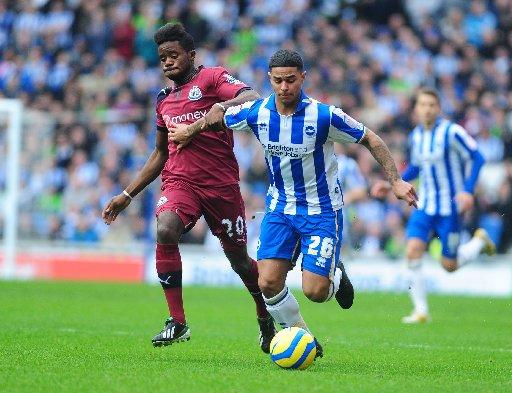 Liam Bridcutt is set to make his 100th appearance for Albion on Saturday