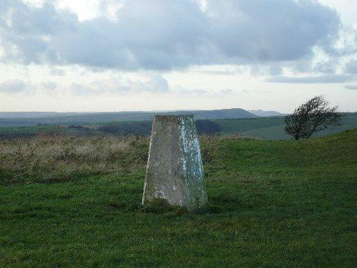 A trig point on the South Downs Way