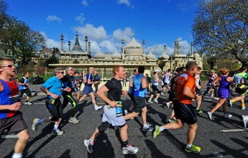 Runners taking part in last year's Brighton Marathon