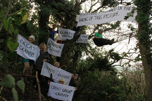 Protesters halt new £94m road