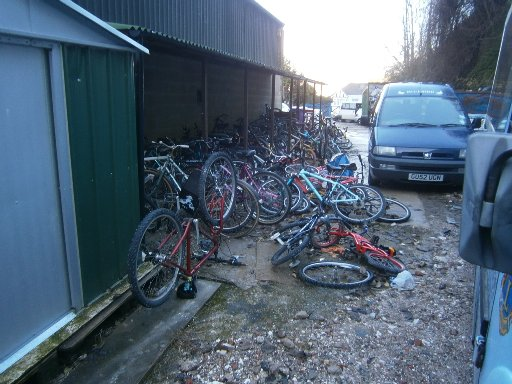 Abandoned bikes collected by Brighton and Hove City Council