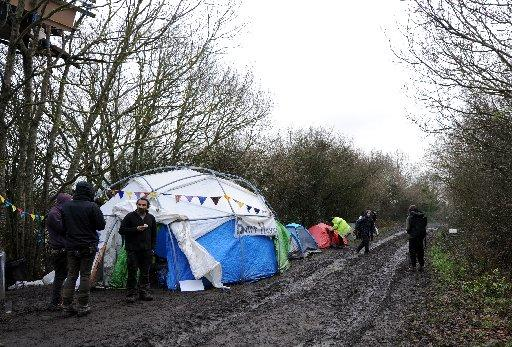 Protessters camped at Combe Haven to prevent construction of the Bexhill to Hastings link road