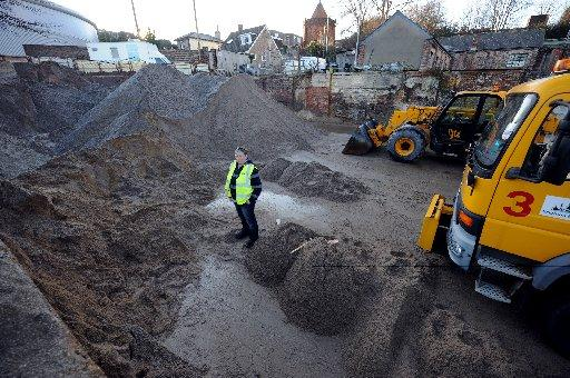 Grit supplies at Brighton and Hove City Council's Hollingdean  depot
