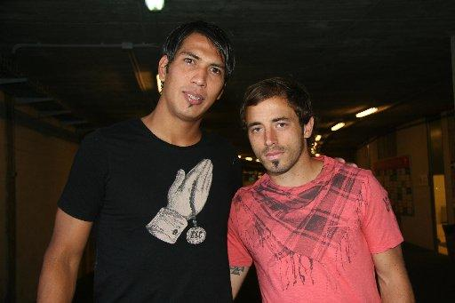Leonardo Ulloa (left) has his EU passport and is all set to become an Albion player